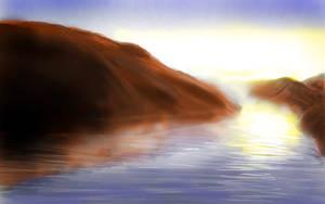 Lake Powell Sunrise painted by Caligari-87