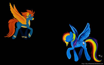 Rainbow Dash and Spitfire (Wallpaper) by Caligari-87