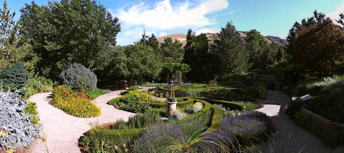 Red Butte Herb Gardens (Panorama) by Caligari-87