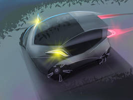 Futuristic car by kuma3ka