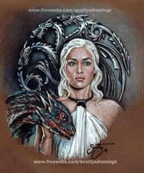 Game of Thrones - Daenerys Targaryen (2014) by scotty309