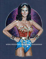 Lynda Carter As Wonder Woman (2014) by scotty309