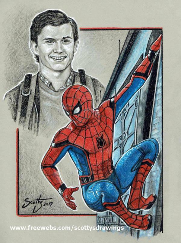 Friendly neighborhood Spider-man (2017) by scotty309