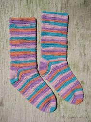 Emotion Crochet Socks by Somniculosa