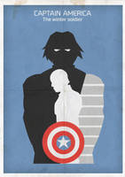 The Winter Soldier minimalist poster by MeoMoc