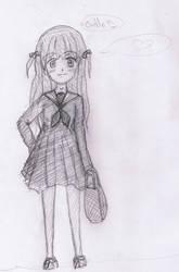 manga girl doodle! by GuddaB