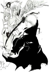 Bleach - The black rescuer by Blychee