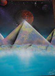 Spray Paint Pyramid. Space. by O0oDC