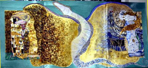 Klimt Dragon by WickedWitchOfTheWeb