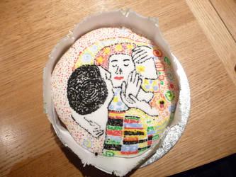 Klimt Cake by WickedWitchOfTheWeb
