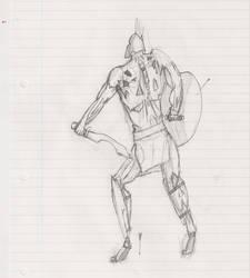 Spartan doodle by krionus