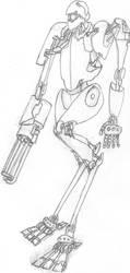 Patrol bot HX-009 by krionus