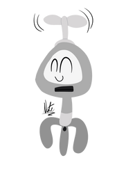Happy Flying Li'l Bot (Art Trade) by TheRealNatechu
