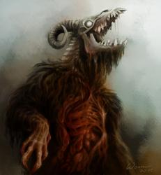 It's ya boi, goat abomination by Wezyk