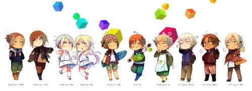 E-chan and Friends by Cioccolatodorima