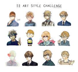 Artstyle Challenge!! by Cioccolatodorima