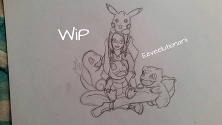 Mum and her pokemon by Eeveelutionarii