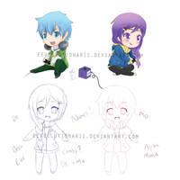 Character Design - De and Mo by Eeveelutionarii
