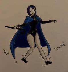 raven tap dancing (request)  by moonandstarss