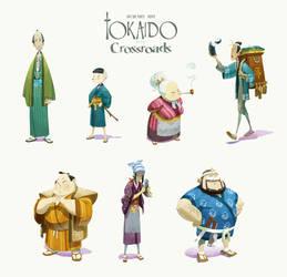 Tokaido crossroad by naiiade