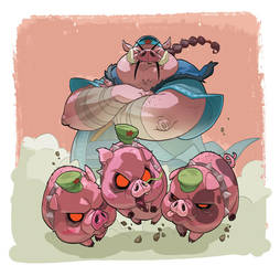 King Pig by naiiade
