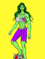 She Hulk redesign by theaven