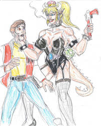 Bowsette vs Captain N by theaven