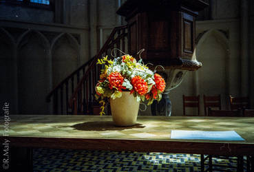 Flowers in church by TLO-Photography