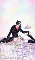 serenity and endymion (sailor moon ) time to rest by zelldinchit