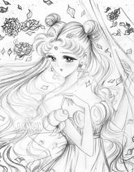 serenity - (sailor moon ) the rose by zelldinchit