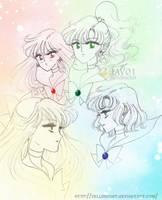 sailor moon - inner senshi by zelldinchit