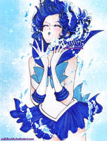 Sailor Mercury - shine aqua illusion by zelldinchit