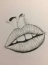 Fineliner lips #1 by CadenBerwick