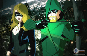 Arrow and Canary artwork by JTSEntertainment