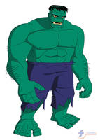The Hulk - Bruce Timm style by JTSEntertainment