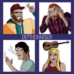 Depthcharger Promo Art   COMMISSION by JTSEntertainment