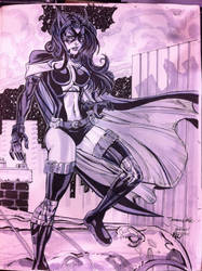 Huntress con sketch by thejeremydale