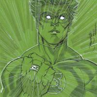 Green Lantern con sketch Megacon 2012 by thejeremydale