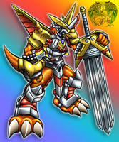 Victory Greymon default by IceRenamon