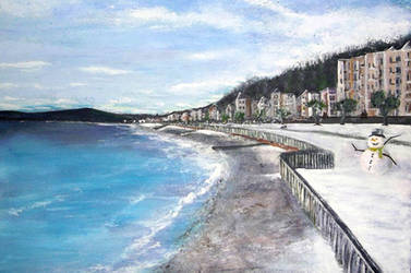 Douglas - Isle of Man Winter Sea Front by creationbooth
