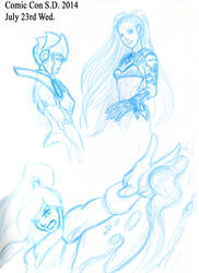 ComicCon2014 Doodle sketchs Part 1 by Pharoahess