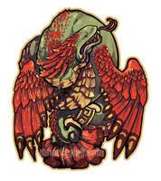 Quetzalcoatl Sticker by dmillustration