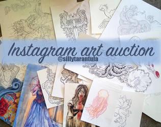 Instagram Art Auction by dmillustration