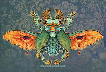 Gilded Beetle by dmillustration
