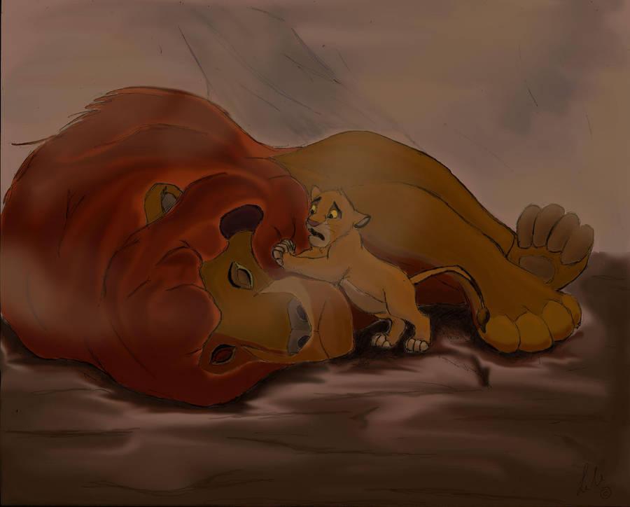 The Death Of Mufasa By Elendar89 On Deviantart