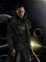 Loki and the universe by eleathyra
