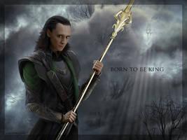 Born to be king - Loki wallpaper by eleathyra