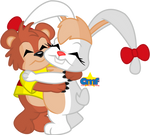 Kissyfur and Beehonie Hugging by Tiny-Toons-Fan