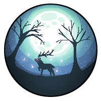 Moonlight Deer - 200x200 Pixelart by FluffZee