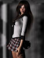 Schoolgirl by Eclesi4stiK